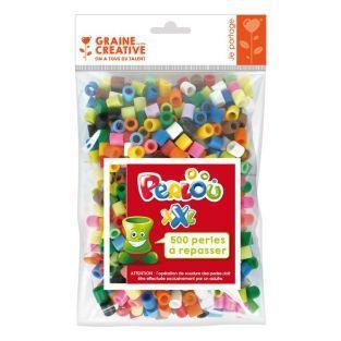 Sachets de 500 perles à repasser XXL - 10 mm