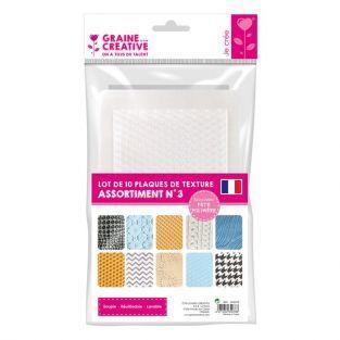 10 placas de textura para arcilla de polímero