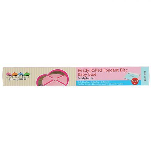 Pasta de azúcar extendida lista para usar Ø36cm - Azul