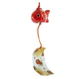 Carillón japonés amuleto pescado - Porcelana