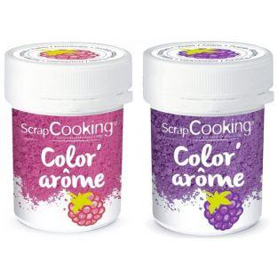 2 Food Colourings with raspberry & blackberry flavours