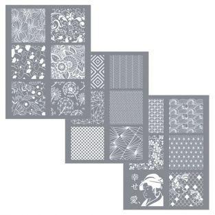 3 Plantillas 11,4 x 15,3 cm para arcilla de polímero FIMO