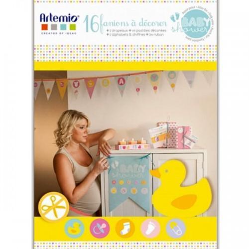 Coffret décoration et Fanions pour Babyshower
