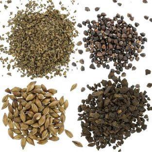 Coffret 4 céréales torréfiées Pissenlit, Orge, Sarrasin et Chicorée