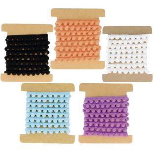 Kit 5 cintas con borlas