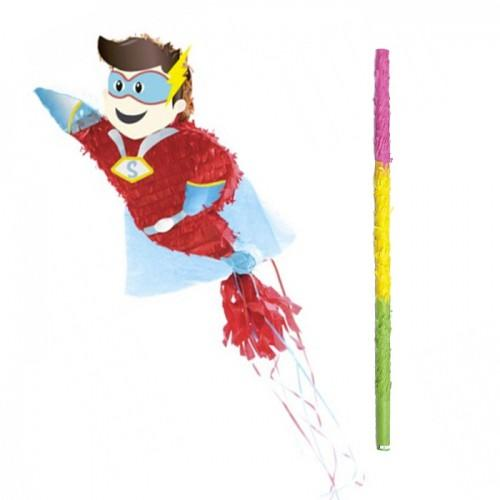 Piñata Super Héros + bâton