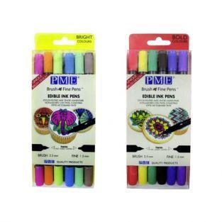 12 Edible ink pens with double tip