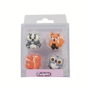 12 sugar decorations - Woodland animals