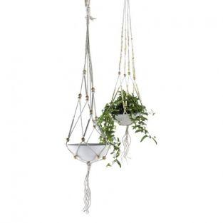 Macrame DIY Kit hanging Basket - beige-yellow
