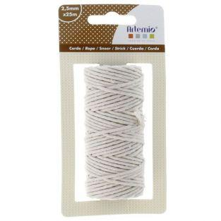 Cotton twine for macrame 25 m - Beige