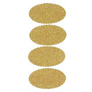 Cork stickers x 4 - Oval
