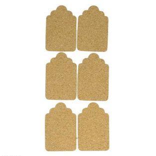 Pegatinas de corcho x 6 - Etiquetas