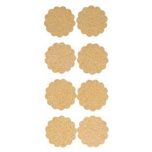 Pegatinas de corcho x 8 - Rosetones