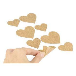 Cork Stickers x 8 - Hearts