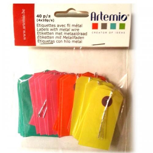 Mini étiquettes Kraft couleur