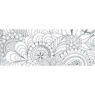 Cinta washi tape XL para colorear - Flores
