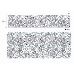 Cinta washi tape XL para colorear - Mariposa