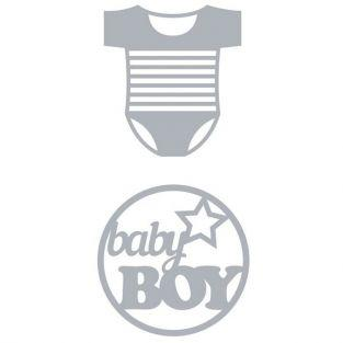 Thinlits Cutting die for Sizzix - Birth Baby bodysuit
