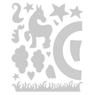 Matrice de d?coupe pour Sizzix - Licorne magique