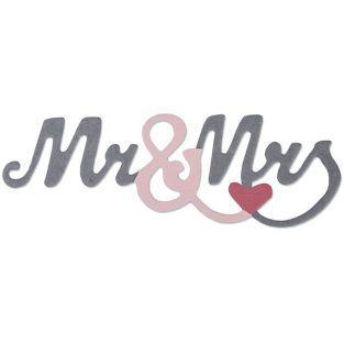 Thinlits Cutting die for Sizzix - Mr & Mrs