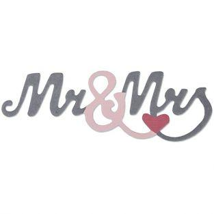 Troqueles Sizzix - Mr & Mrs