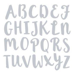 Matrice de découpe pour Sizzix - Alphabet majuscule