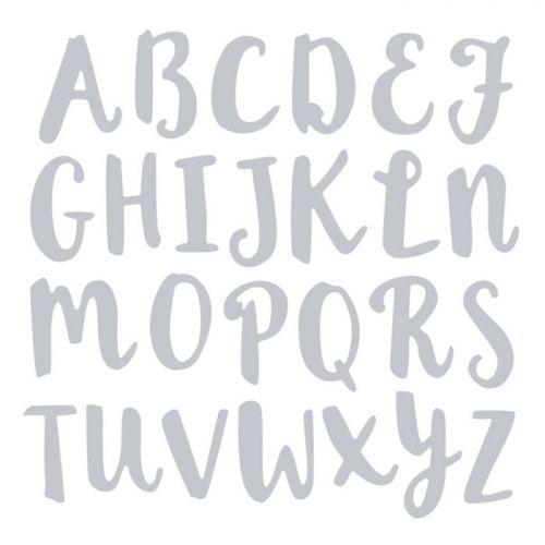 Matrice de d?coupe pour Sizzix - Alphabet majuscule