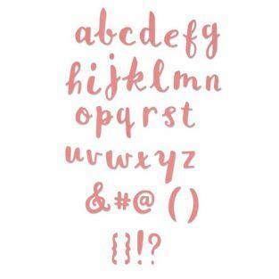 Matrice de d?coupe pour Sizzix - Alphabet minuscule