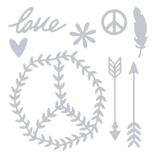 Thinlits Cutting die for Sizzix - Peace & Love