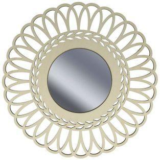 Espejo con cuadro de madera para decorar 28 cm - Corona