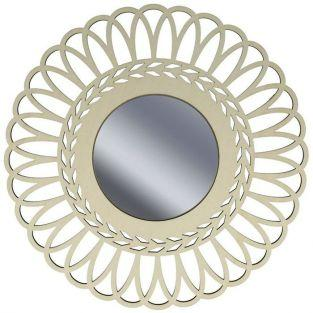 Miroir contour bois ? d?corer 28 cm - Couronne