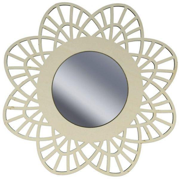miroir contour bois d corer 28 cm dentelle youdoit. Black Bedroom Furniture Sets. Home Design Ideas