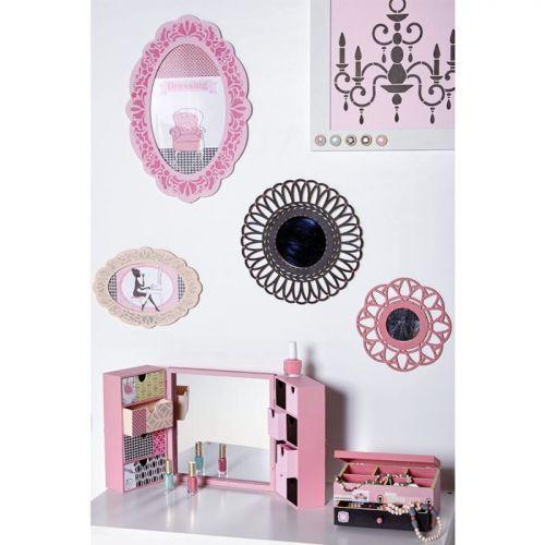 miroir contour bois d corer 20 cm couronne youdoit. Black Bedroom Furniture Sets. Home Design Ideas