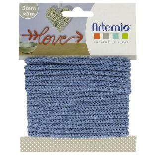 Knitting yarn 5 mm x 5 m - blue