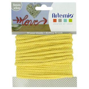 Knitting yarn 5 mm x 5 m - yellow