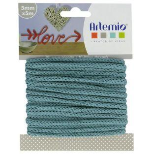 Knitting yarn 5 mm x 5 m - turquoise blue