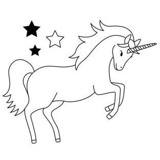 Wooden stamp - Unicorn