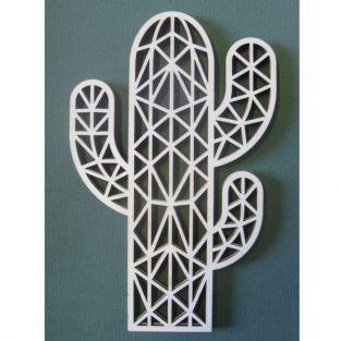 Silhouette en bois origami - Cactus