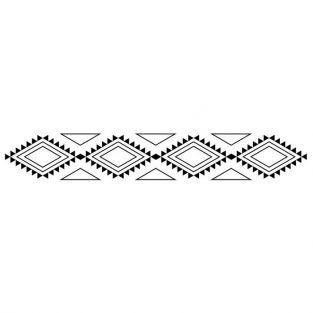 Tampon en bois - motif indien