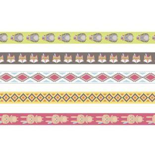 5 cintas adhesivas 5 m x 1,5 cm - Gran jefe indio