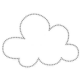 Wooden stamp - Cloud