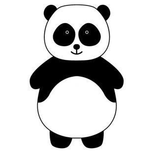 Sello de madera - Panda