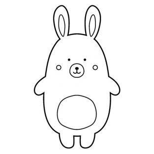 Sello de madera - Conejo