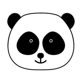 Tampon en bois - T?te de panda