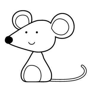 Wooden stamp - Mouse