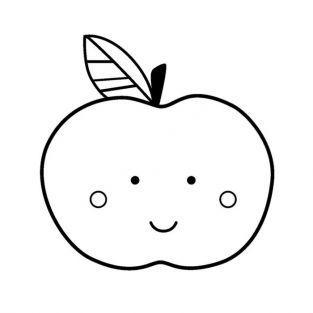 Sello de madera - Manzana
