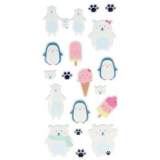 Autocollants Puffies - Glace adorable