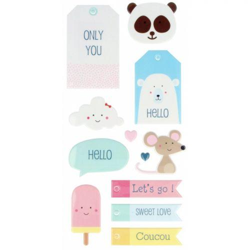 Puffies XL Stickers - Adorable Animals