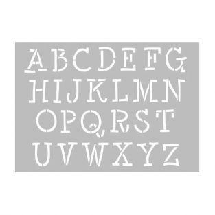 Pochoir ? lettres majuscules