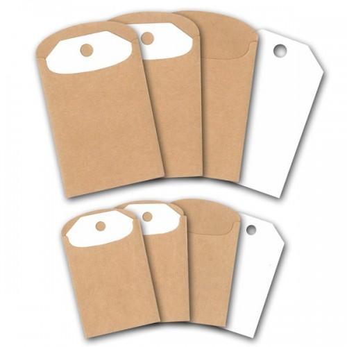 Etiquettes Kraft et pochettes